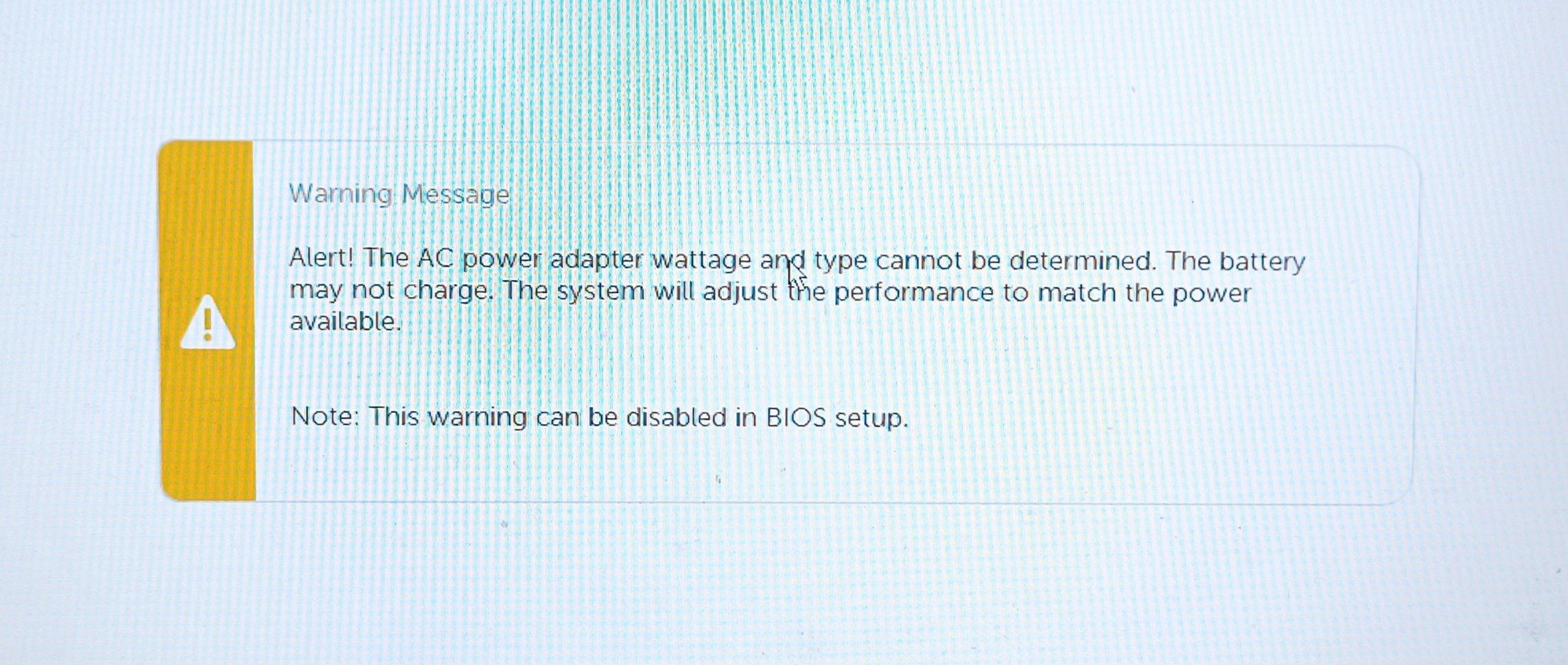 在Bios关闭戴尔笔记本电池警告!自检的电源适配器设置